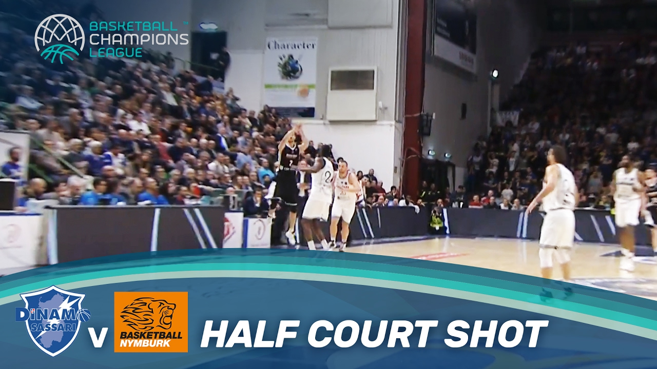 Hruban beats the buzzer with a half court shot