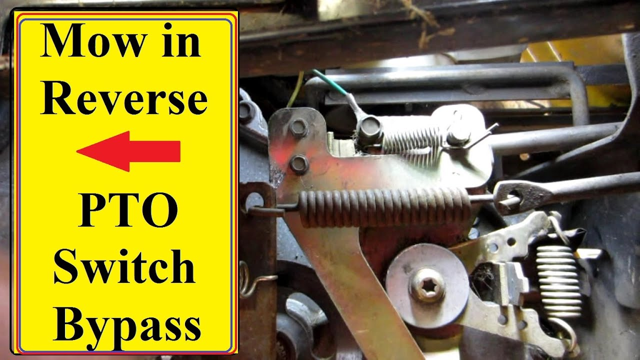 Mower Pto Reverse Switch Bypass Youtube For Cub Cadet Gt 1554 Wiring Diagram