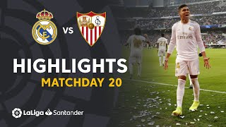 Highlights Real Madrid vs Sevilla FC 2-1