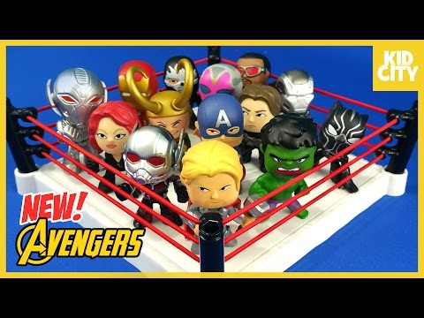 Avengers Toys Shake Rumble Match with Marvel Mystery Minis Thor Captain America & Ant-Man | KIDCITY