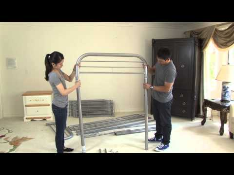 Assembly video metal bunkbed Twin/twin and Twin Futon