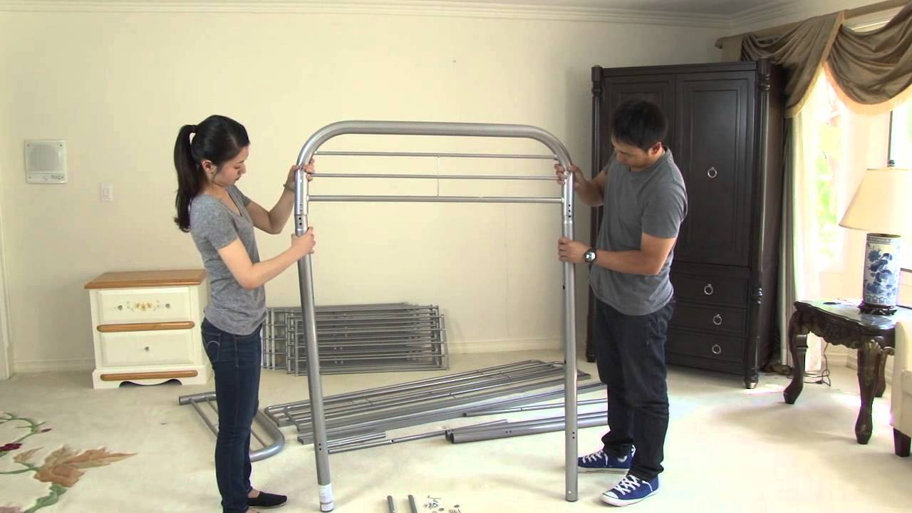 assembly video metal bunkbed twin twin and twin futon   youtube  rh   youtube