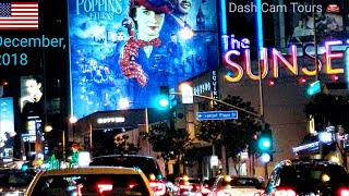 West Hollywood Billboard Row Monthly Update || December, 2018 || Dash Cam Tours ????