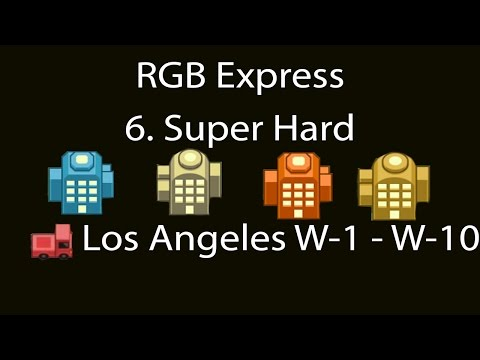 RGB Express Super Hard Los Angeles (Hamburg) W-1 - W-10 Walkthrough