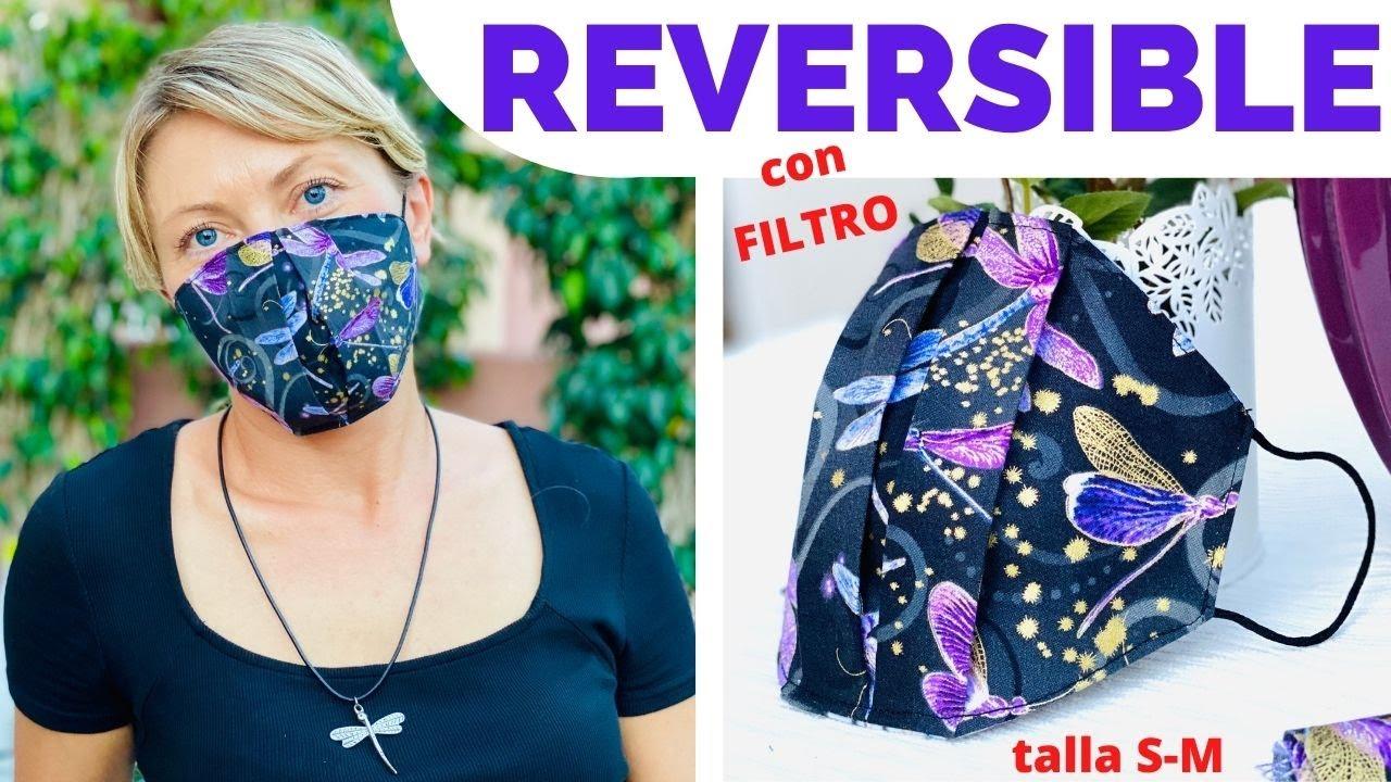 MASCARILLA REVERSIBLE CON ESPACIO PARA EL FILTRO / TALLA S-M