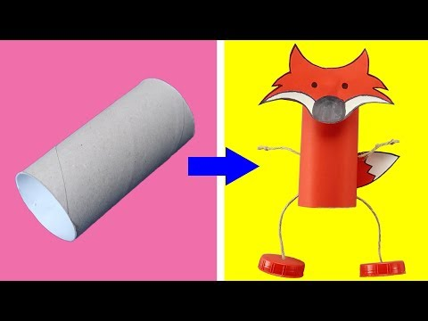 CHEAP RECYCLED CRAFTS FOR CHILDREN. DIY Paper Toys Easy Tutorial