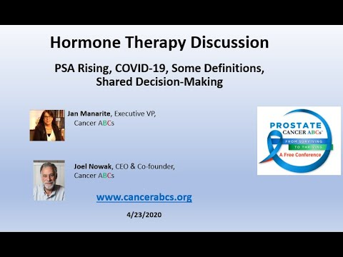 Hormone Therapy Discussion - Definitions Covid-19 PSA ...