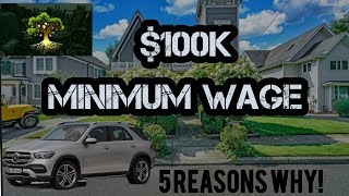 #bitcoin #millennial #Investing 100k MINIMUM WAGE! 5 FACTS WHY!
