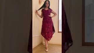 G 3067 Платье вечернее гипюровое с асимметричным низом video