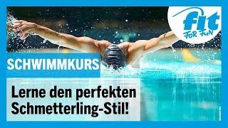 Schwimmkurs: Perfekt Schmetterling-Stil lernen mit FIT FOR FUN