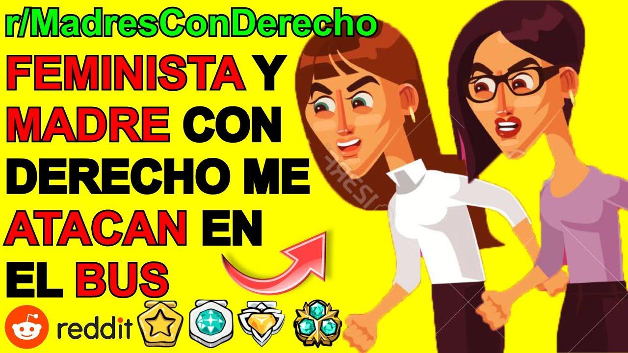 F3MINISTA CON DERECHO Y KAREN EN EL BUS... ¡AUXILIO! - MADRES CON DERECHO | Reddit Español