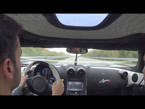 Autobahn runs Koenigsegg Agera R 340+ km/h (215+ mph) casual driving towards the testtrack