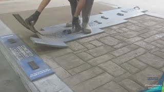 Kolumbijska forma do odciskania w betonie - Kolumbianische stempelform für stempelbeton