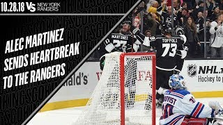 Alec Martinez's Game-Winning Goal Against the New York Rangers