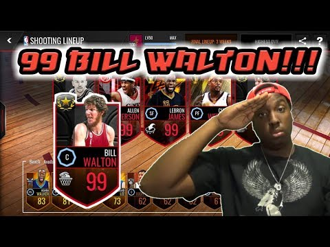 NBA LIVE MOBILE | 99 OVR ULTIMATE LEGEND BILL WALTON REVIEW/GAMEPLAY!!!