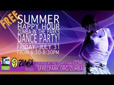 SF Zumba In the Park Happy Hour Party 7/31/2015