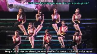 SNSD - Complete (live) Sub español + Rom. lyrics + Sing Along