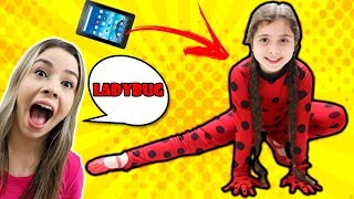 HELOÍSA COMO LADYBUG SALTOU DO TABLET! Ladybug jumped out of the tablet