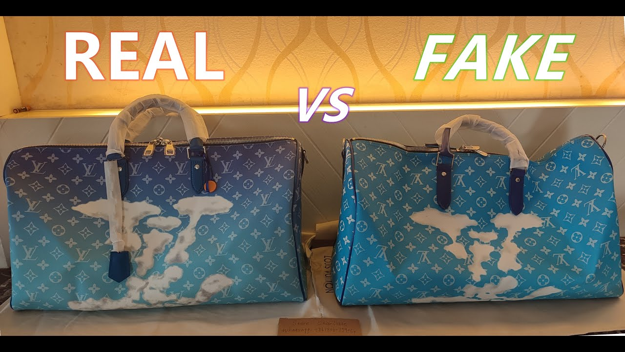 Download M45428 Real vs Fake Louis Vuitton Cloud Keepall Keepall Bandoulière 50   FW20 Unboxing