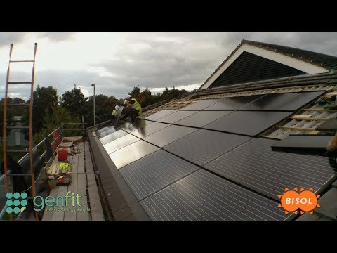 Bisol Solar BIPV 21.84kWp Array Installed by Genfit, UK