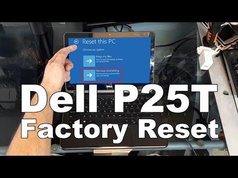 Dell P25T Restauración de Fabrica (español)