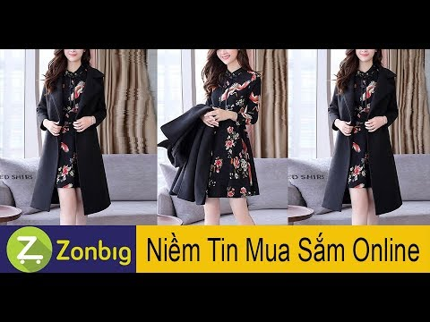 [Zonbig.com] – Đầm Váy Phối Áo Khoác Dạ Cao Cấp
