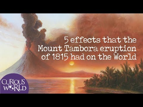 5 Effects that the Mount Tambora Eruption of 1815 had on the World