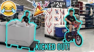 TRYING TO GET KICKED OUT OF WALMART ON MY BIRTHDAY!
