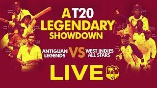 Live T20 Legends Showdown | Antiguan Legends Vs West Indies All Stars