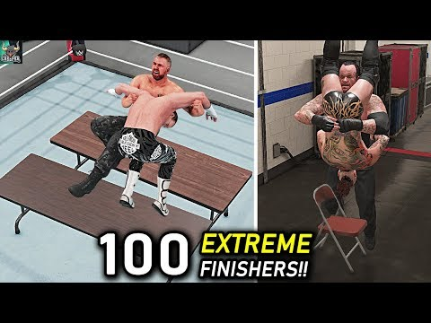 WWE 2K19 Top 100 Extreme Finishers!! WWE 2K20 Countdown