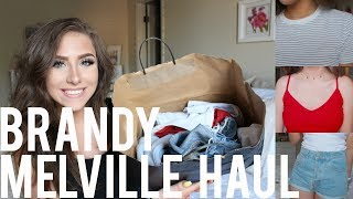 Big Brandy Melville Try-On Haul | Shorts, T-Shirts, Tanks, Thermals & More!