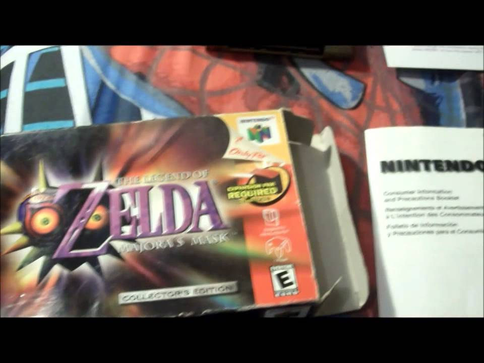 Zelda Majora's Mask N64 box with all inserts & Gold Holographic Cartridge