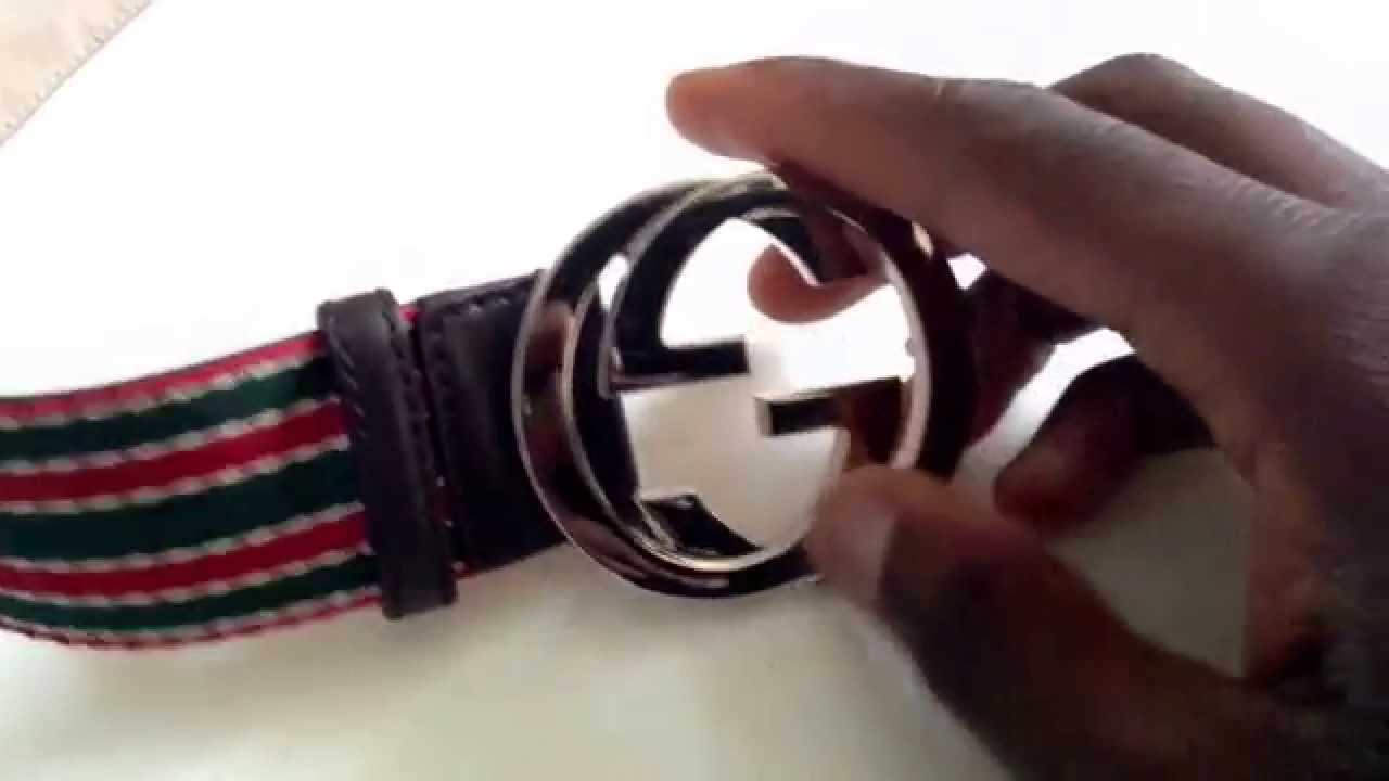 f3eec104937 How to spot a fake Gucci Belt - YouTube