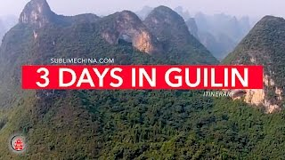 3 Days in Guilin Itinerary | Gulin Itinerary & Tour Suggestion