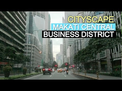 Makati Central Business District (CBD) on a typical Saturday