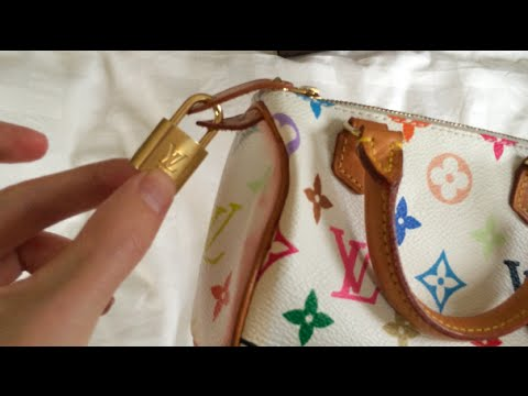 Louis Vuitton Engraved Padlock on Multicolor Mini HL Speedy - YouTube 4e15c8b9e406c