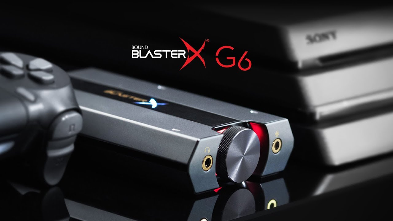 Sound BlasterX G6 7 1 HD Gaming DAC and External USB Sound Card with Xamp  Headphone Amplifier