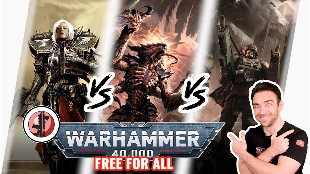 Warhammer 40 000 - Tyranids VS Garde Impériale VS Sœurs de bataille