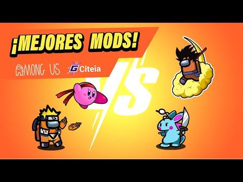 LOS MEJORES MODS DE AMONG US !!! TOP 5 MEJORES MODS DE MONG US !!!