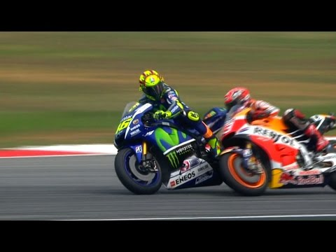 #SepangClash: Rossi and Marquez get physical!