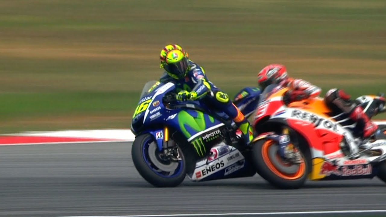 Sepangclash Rossi And Marquez Get Physical Youtube