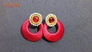 How to make Silk Thread earrings at Home | DIY Silk Thread Chandbali earrings | Tutorials |