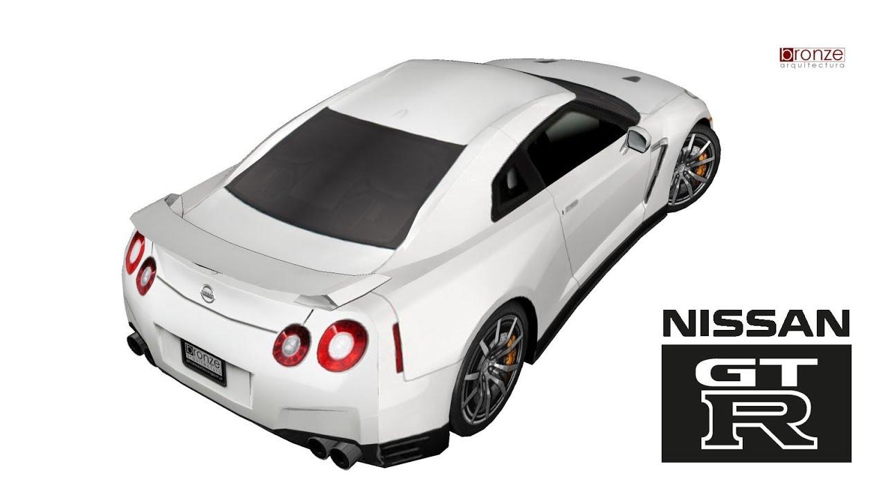 Nissan Skyline GTR, 2013, 3d Em SketchUp