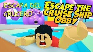 ¡ESCAPA DEL CRAKEN EN ROBLOX! - Escape the Cruise Ship -