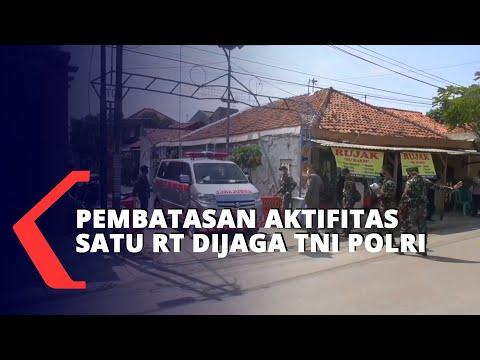 Pembatasan Aktifitas Satu RT Dijaga TNI Polri