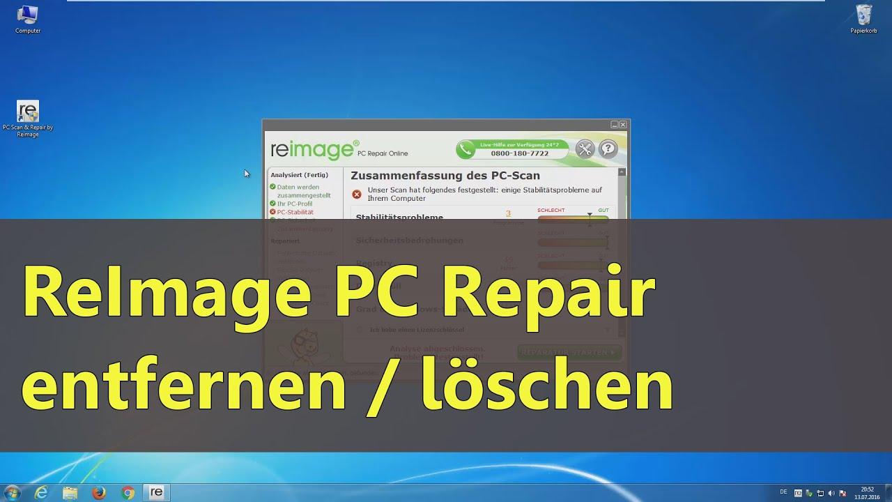 reimage repair windows 10 entfernen
