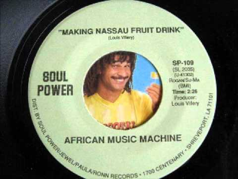 AFRICAN-MUSIC MACHINE-making Nassau Fruit Drink