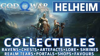 God of War - Helнeim All Collectible Locations (Ravens, Chests, Artefacts, Shrines) - 100%