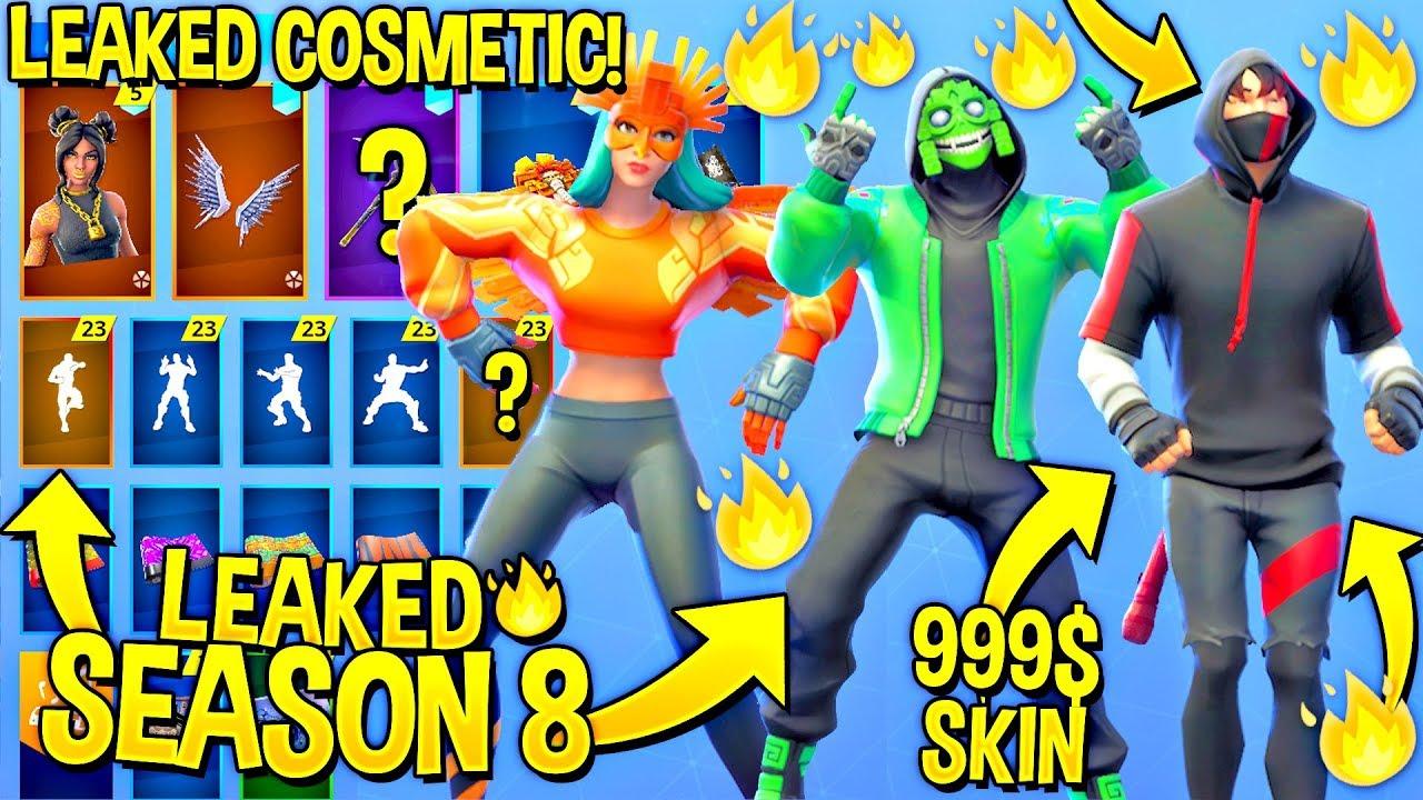 New Season 8 Leaked Skins Emotes Ikonik Bandolette