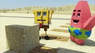 майнкрафт ГУБКА БОБ видео для детей спанч нуб в мультик троллинг как сделать sponge bob мод обзор